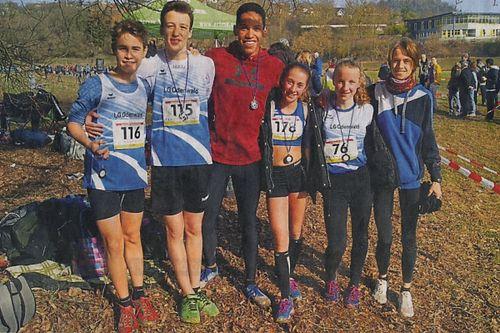 Das erfolgreiche Team der LG Odenwald bei den hessischen Crosslauf-Meisterschaften