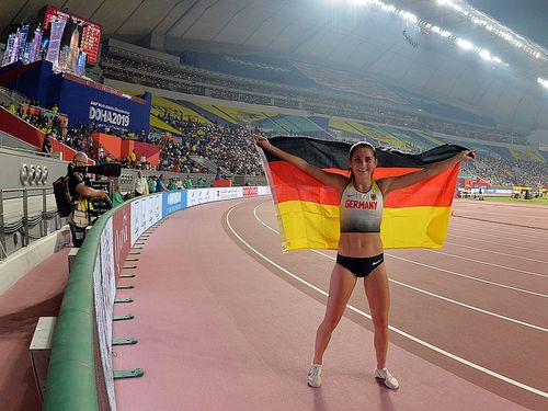 Gesa Felicitas Krause holt in deutscher Rekordzeit WM-Bronze in Doha